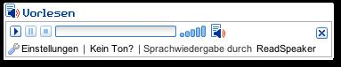 Bildschirmfoto des Expanded Player (Erweiterten Wiedergabefeldes)